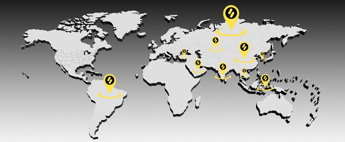 Работа Биномо на карте